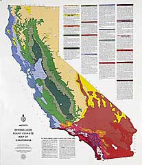 Generalized Plant Climate Map of California