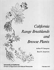 California Range Brushlands and Browse Plants