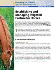 Establishing and Managing Irrigated Pasture for Horses