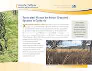 Restoration Manual for Annual Grassland Systems in California
